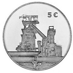 Luxembourg Stainless Steel Coin reverse