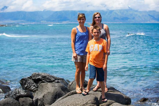 Family at Ho'okipa Beach Park