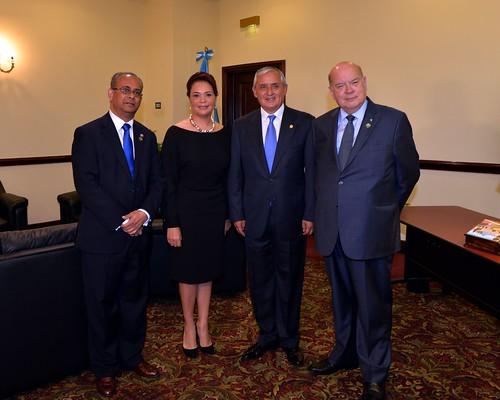 Guatemalan President and OAS Secretary General Meet