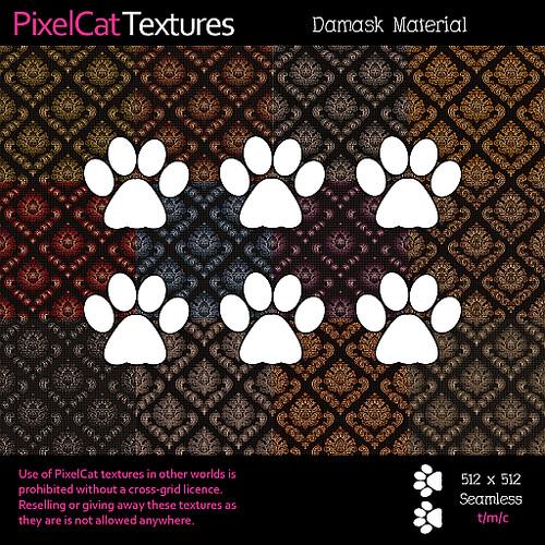 PixelCat Textures - Damask Material