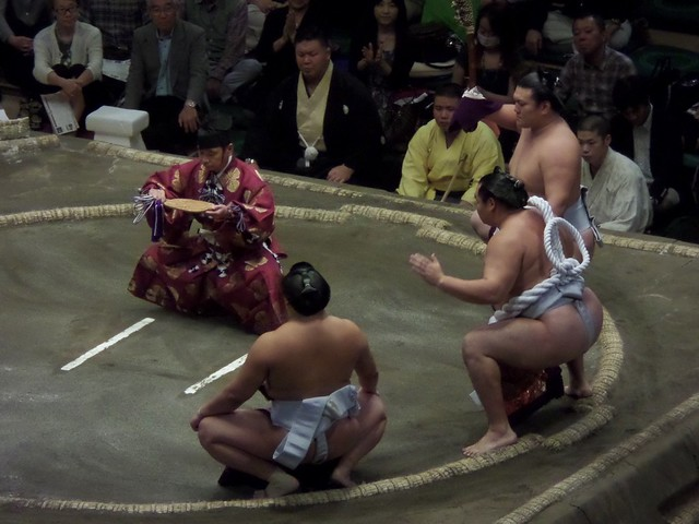 Ring Entrance of Yokozuna Hakaho