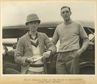 Pilot Cathcart Jones and Ken Waller at Charleville 1934