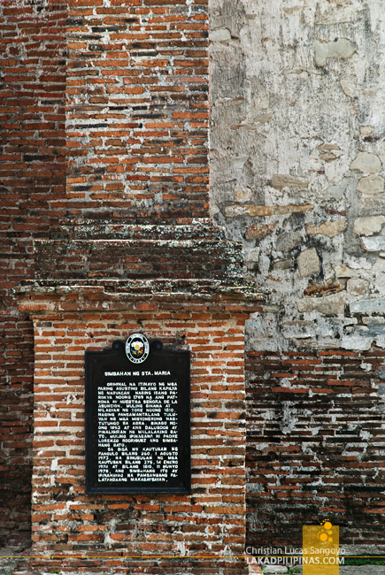 Historical Marker of Santa Maria Church in Ilocos Sur