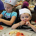 Clarington Public Library, in partnership with the President's Choice Cooking School, Loblaws Great Food Bowmanville, hosted the Become the Next Great Chef!  The chefs learned new hands-on skills and how to make healthy food choices while making fruit kabobs and no-bake cookies!