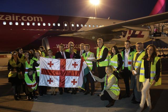Elindult a Wizz Air első Budapest - Kutaiszi járata