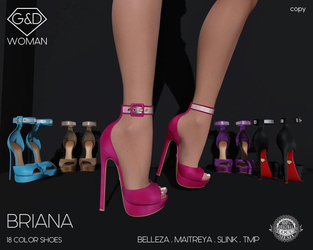 G&D Shoes Briana 02 adv - SecondLifeHub.com