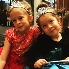 Really saw them focused and appreciating the art of ballet tonight, more than ever before. Thank you Meredith and MBT. The girls just loved Cinderella.