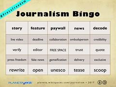 #PressFreedom Journalism Bingo