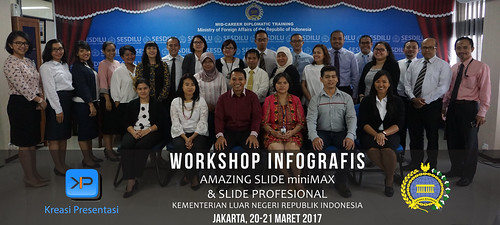 Workshop Infografis Amazing Slide miniMax & Slide Profesional Pakar Slide Dhony Firmansyah bersama Kementerian Luar Negeri Republik Indonesia