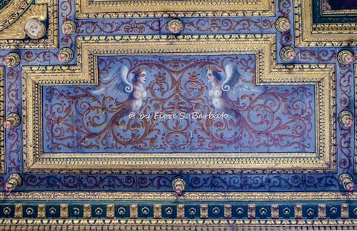 Airola (BN), 2017, Chiesa della Santissima Annunziata: decori del soffitto.