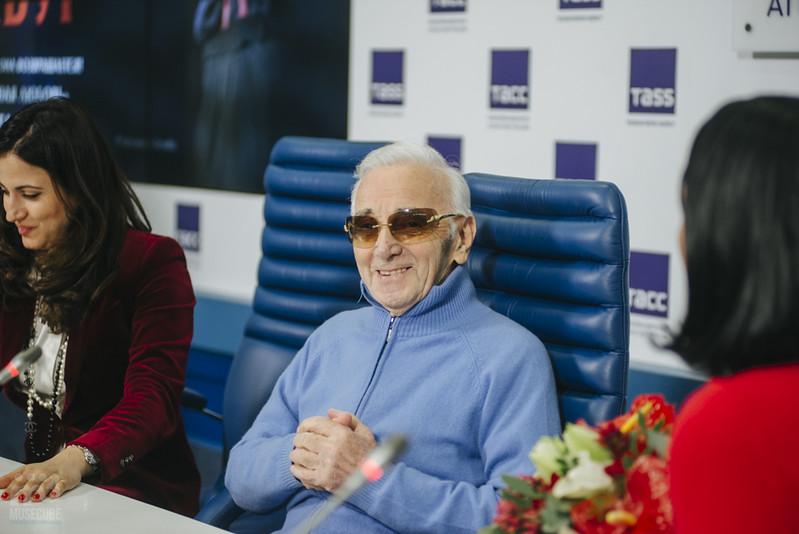 Шарль Азнавур пресс-конференция ТАСС (52)
