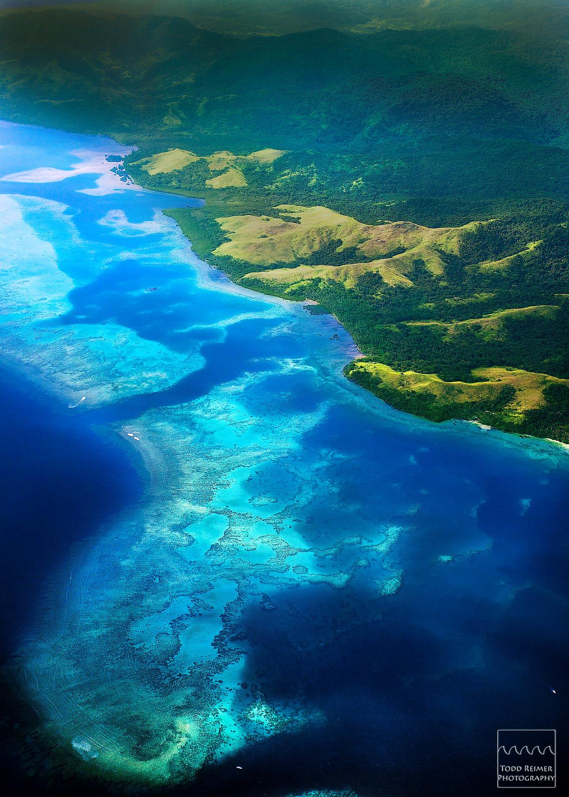 Flying over Fiji [OC] [1143 x 1600]