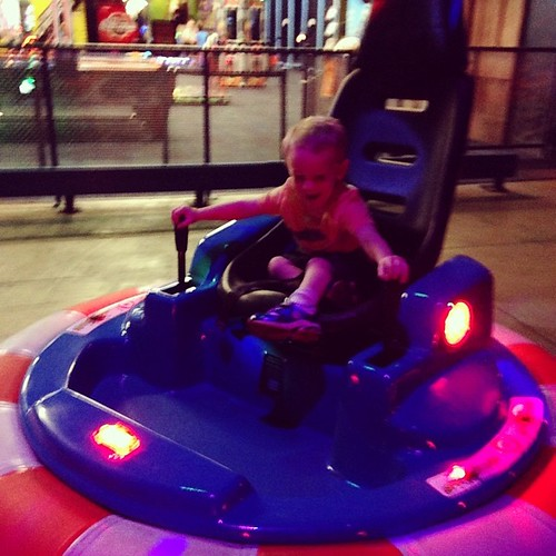 Grayson drove the bumper cars #lovehim