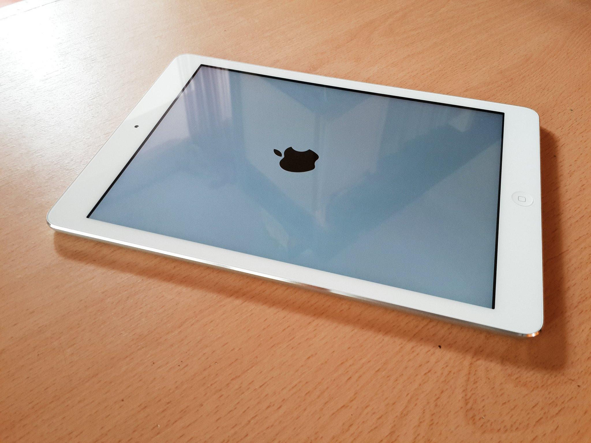 silver iPad air