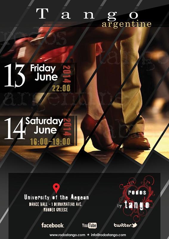 13-14 Ιουνίου 2014 - Milonga - Μάθημα στην Αίθουσα Χορού του Πανεπιστημίου Αιγαίου