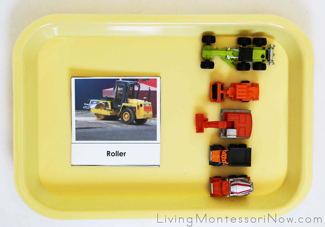 Construction Vehicle Matching Tray