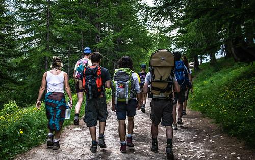 In gruppo al ritorno dal Lago Lavoir verso Grange di Valle Stretta