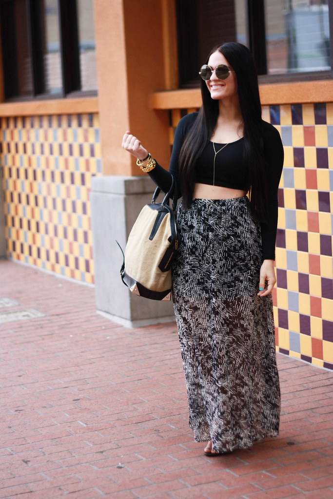 Crop Tops and Maxi Skirts