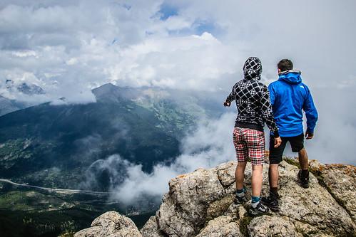 panorama sotto la grand hoche, strapiombo sulla valle