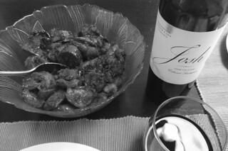 Eggplant Chinese Sausage - Wine pairing bw