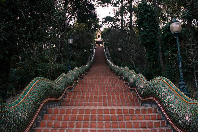 stairs to doi suthep temple
