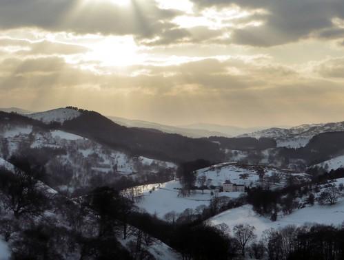 sunset wales contrast landscape snowy llangollen snowylandscape offasdykenationaltrail ilobsterit