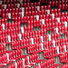 鸟巢紅椅 Red chairs inside the Bird's Nest (National Stadium) / 中國北京體育建築之形 Sports architecture forms in Beijing, China / SML.20140502.7D.52037.P1