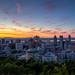 Summer Solstice Sunrise Skyline - Montreal 2014 by Paul Ei
