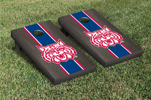 Arizona Wildcats Cornhole Game Set Onyx Stained Mascot Version