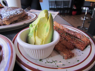Sides of Avocado and Tempeh Bacon at Wayward Vegan Cafe