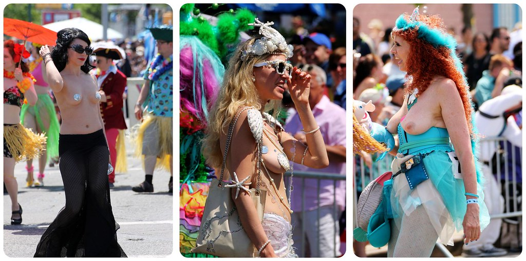 coney island mermaid parade topless girls