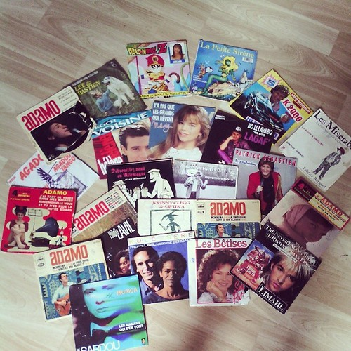 Quand ma maman me rend mes disques de mon enfance je les écoutes en double. #vintage