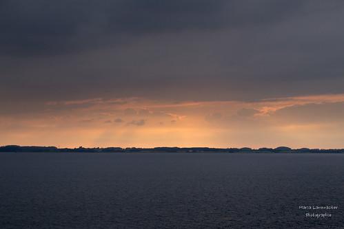 Sonnenuntergang auf der Norsee