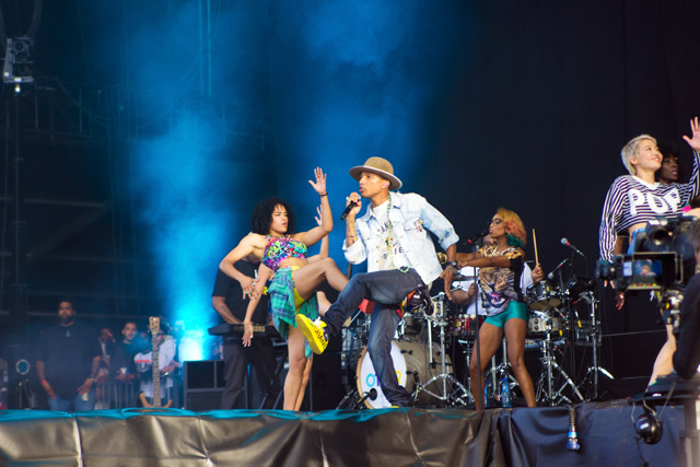 Pharrell Williams at Wireless Festival 2014