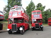 Ex London Transport RT113 and RT2177 in Finsbury Park, North London on the 13th. July 2014