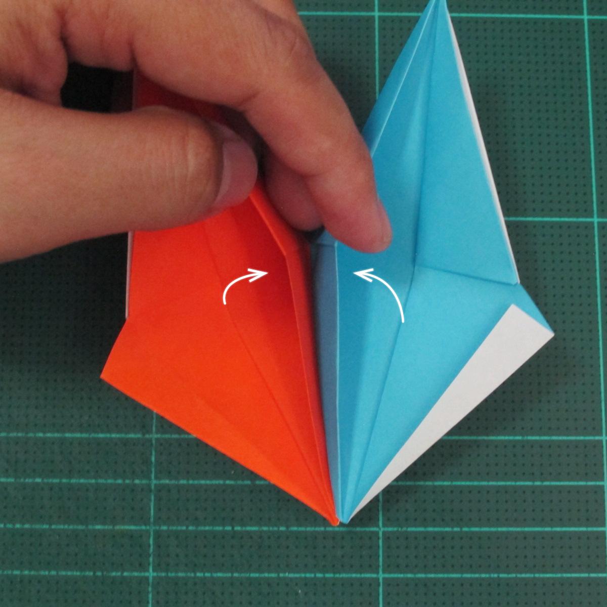 วิธีพับกระดาษเป็นถาดใส่ขนมรูปดาวแปดแฉก (Origami Eight Point Star Candy Tray) 022