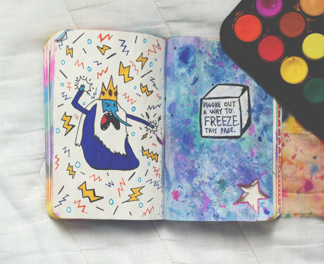 vivatramp wreck this journal freeze this page example adventure time ice king lifestyle book blog