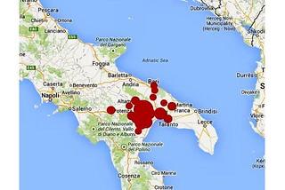 Noicattaro. Terremoto 12 Agosto front