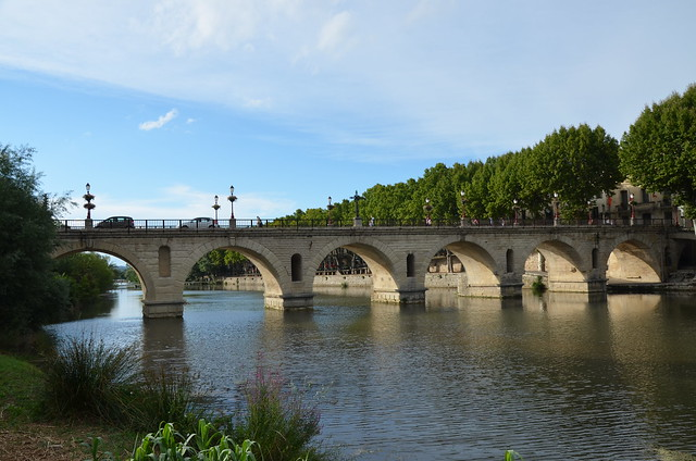 Roman bridge over the river Vidourle built on the instructions of Emperor Tiberius at the start of the 1st century AD, France