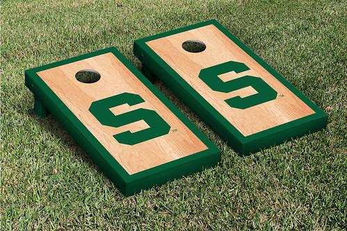 Michigan State Spartans Cornhole Game Set Hardcourt S