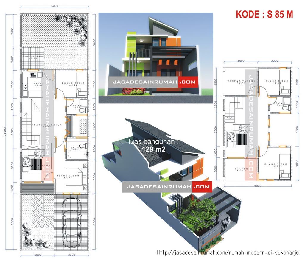 Rumah Modern Di Sukoharjo Jasa Desain Rumah