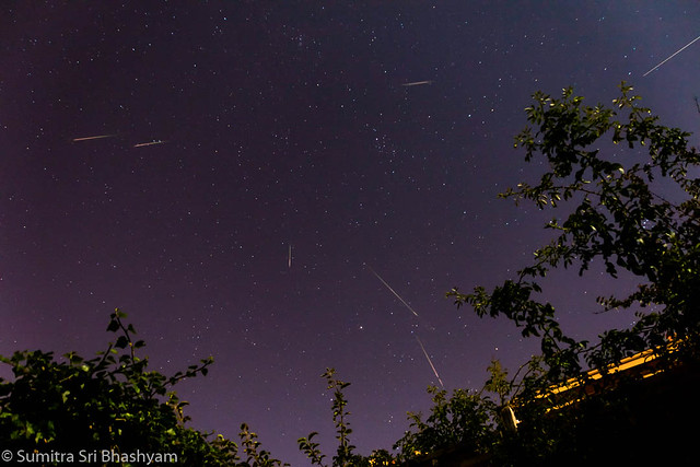 Composite image of several Perseid frames