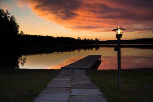 lake night clouds finland landscape cottage dramatic mökki tarkkola