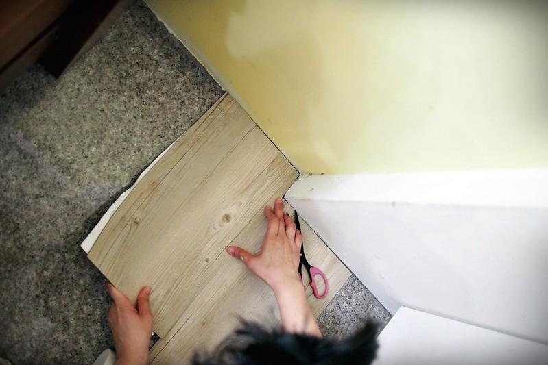 P7261877PRO特選特力屋塑膠地磚9x36吋2mm木紋763