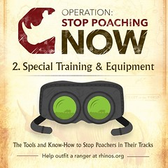 Special Training & Equipment. The Tools and know-how to stop #rhino poachers in their tracks. Help outfit a #ranger, learn more at rhinos.org
