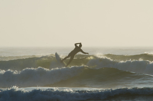 Surfer at Bastendorf Beach