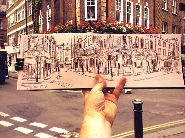 Sketching Berwick St