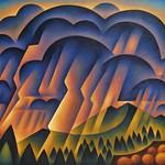 Sushe Felix; Thunder & Lightning; Acrylic on panel; 48 x 60; Courtesy of William Havu Gallery, Denver -