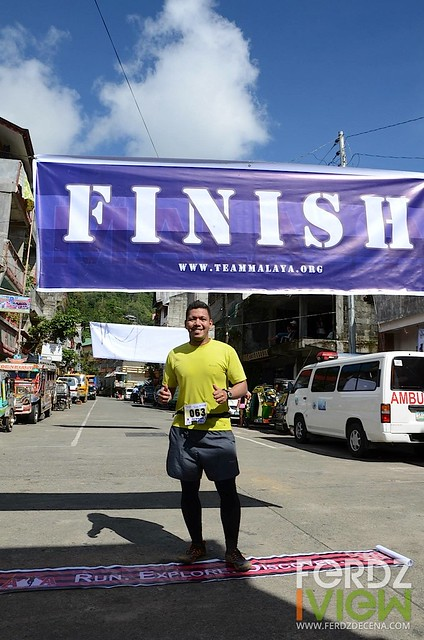 Me on the finish line