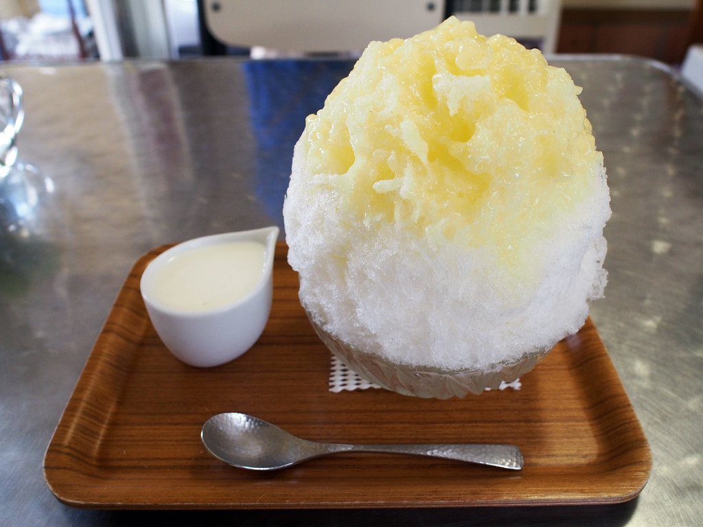 Japanese Ice Shaved | Pineapple & Yogurt Condensed Milk